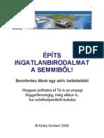 Király Norbert - Építs Birodalmat a Semmiből pdf könyv letöltés