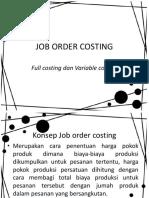 Pertemuan 9 Job Order Costing