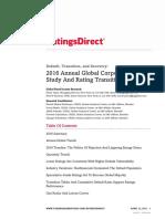 2016 SP Global Corporate Default Study