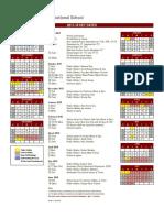 CIS School Calendar 2017-18