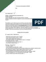 Portfolio Grading Criteria