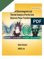 Ferrite Core Electronic Planar Transformer - Mark Christini
