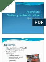 Clase Introductoria Gestión y Control de Calidad - HVR