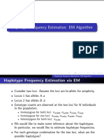 EM Algorithm Haplotype Frequency 2010