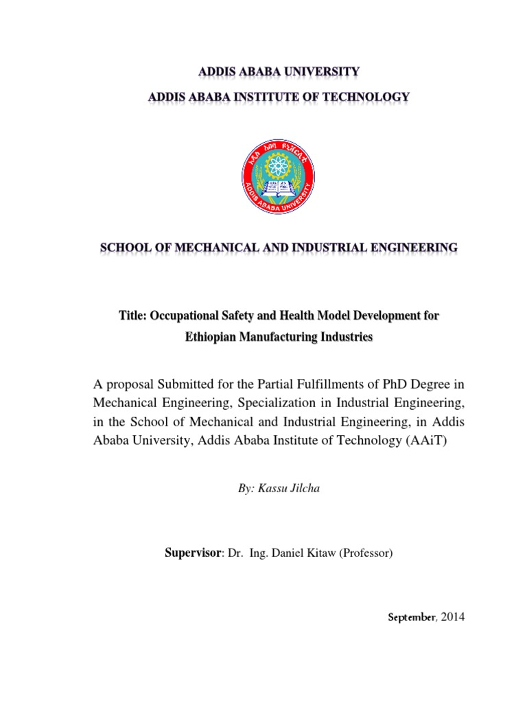 PHD Research Proposal Final Jan 2015 | Occupational Safety And