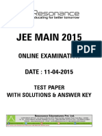 Jee Main Online Paper 2 Solutions 2015