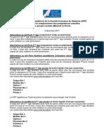 Les recommandation de la Société française de pédiatrie