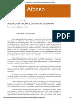 Sandra Afonso_ Psicologia Social e Dinâmicas de Grupo