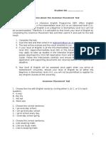 Attachment 1 - Grammar Placement Test(1)