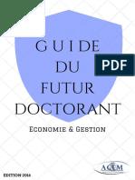 Guide Du Futur Doctorant - Acem