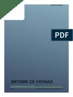 Informe de Drenaje