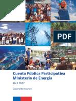 Cuenta Publica Ministerio Energia Resumen Abril 2017
