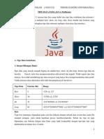 Tipe Data Pada Java (Netbeans)