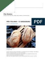 Pão Italiano_ Pão Rústico