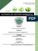 Unidad 6 Sistemas de Gestión Ambiental