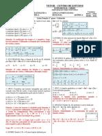 Lista - Função 2° grau - Gabaritovvccvcv
