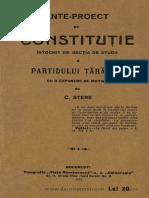 Ante-proect de Constituţie Întocmit de Secţia de Studii a Partidului Ţărănesc