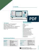 PCT200i CT PT Tester Datasheet