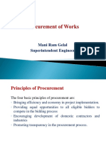 Procurement of Works DUDBC