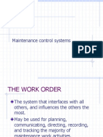 4-2 Maintenance Control Systems