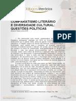 Comparatismo Literário e Diversidade Cultural- Questões Políticas