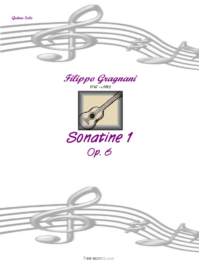 Filippo Gragnani: Sonatine 1