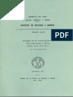 Geología - Cuadrangulo de San Juan %2831m%29%2C Acarí %2831n%29 y Yauca %2832n%29%2C1978