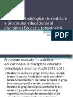 Sugestii Metodologice de Realizare a Procesului Educaţional Al