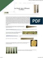 Salimbeti Greek Bronze Sword