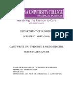 EBM Surgery CWU - Testicular Cancer