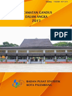 Kecamatan Gandus Dalam Angka 2017