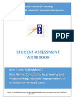 AURAMA006 Contribute to Planning and Implementing Business Improvement in an Automotive Workplace