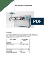 Especificaciones Técnicas y Características de La Maquinaria