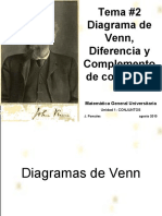 Tema 2 Diagrama Venn Diferencia y Complemento de Conjuntos