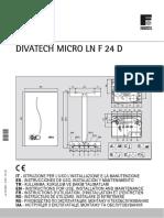 Manual Instrucciones DIVAtech Micro LN F 24 Español