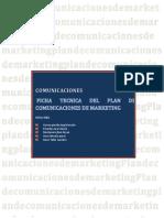 Ficha Técnica Del Plan de Comunicaciones de Marketing