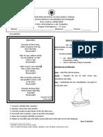 Ficha Informativa e Trabalho Poesia