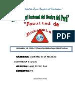 Resumen de Estrategias de Desarrollo Territorial (Iiparte)