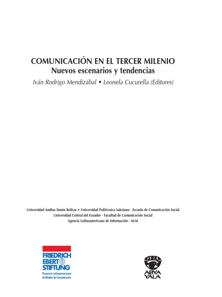 comunicación en el tercer milenio nuevos escenarios pdf