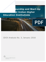 Entrepreneurship and Start-Up Activities at Indian Higher Education Institutions