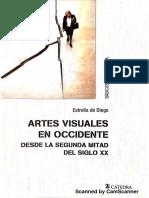 Estrella de Diego, Artes visuales en Occidente