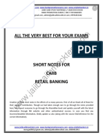 CAIIB-Retail Banking-Short Notes by PKG