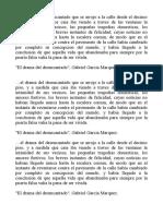Microrrelato de García Márquez