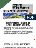 Normas Técnicas Aplicables en Materia Oimpacto Ambiental