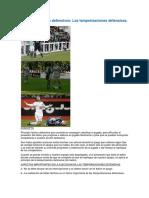 Temporizar o Contemporizar (Algunos Autores)en El Futbol