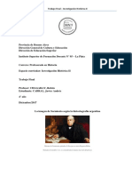Sarmiento historiografia Argentina
