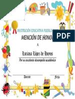 Luciana Mencion Honor