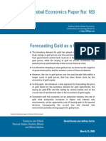 Forecasting Gold as a GS
