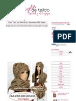 Cómo Tejer Una Bufanda Con Capucha Con Dos Agujas _ Crochet y Dos Agujas - Patrones de Tejido