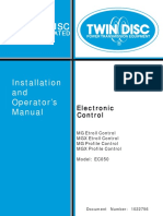 Twin Disc Electronic Control Installation and Operator's Manual 1022756